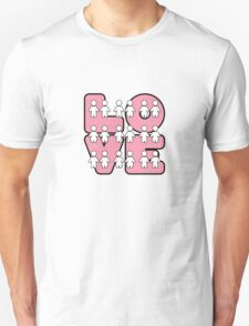 Four Letters (alternate design) - two lof bees T-Shirt