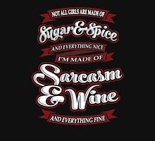 Sarcasm & WIne Womens Fitted T-Shirt