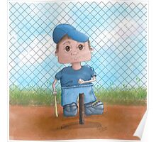 Cute T-Ball Player Poster