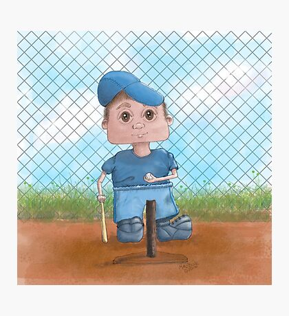 Cute T-Ball Player Photographic Print