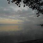 Lake Léman at dusk... Nyon by Marilyn Grimble