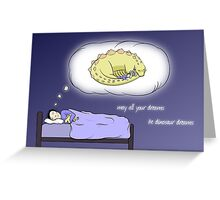 Dinosaur Dreams - two lof bees Greeting Card