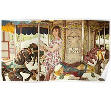 Pregnant woman in carousel Poster