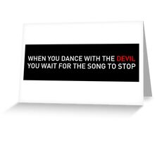Dance with the Devil (Black) - Lock Stock Greeting Card