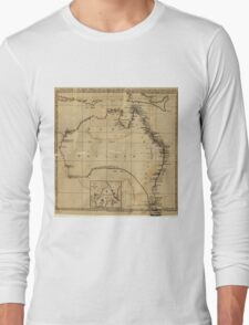 Vintage Map of Australia (1700s) Long Sleeve T-Shirt
