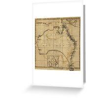 Vintage Map of Australia (1700s) Greeting Card