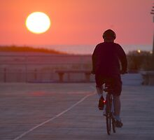 Boardwalk Bike Ride by Imagery