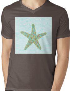 Stella Starfish coastal sea life beach theme Mens V-Neck T-Shirt