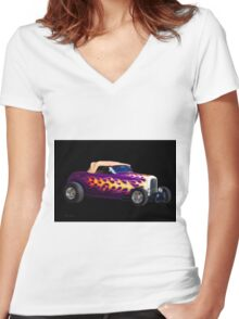 1932 Ford 'Ragtop' Roadster Women's Fitted V-Neck T-Shirt