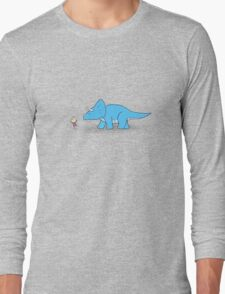 Hello Triceratops Long Sleeve T-Shirt