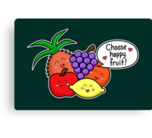 Happy Fruit - two lof bees Canvas Print
