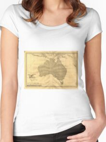 Vintage Map of Australia (1808) Women's Fitted Scoop T-Shirt