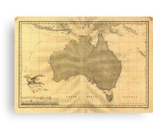Vintage Map of Australia (1808) Canvas Print