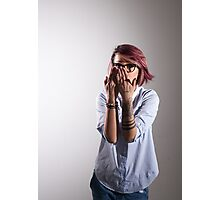 Young cheerful smart woman Photographic Print