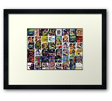 Sega Dreamcast games Framed Print