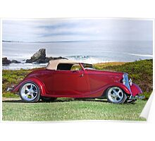 1934 Ford 'Surf n Turf' Roadster Poster
