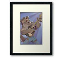 Werewolf Rocking Out Framed Print