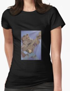 Werewolf Rocking Out Womens Fitted T-Shirt