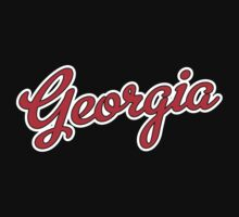 Georgia Script Red  by Carolina Swagger