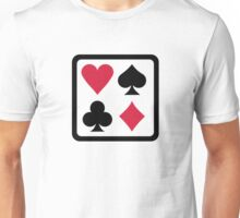 Poker colors Unisex T-Shirt
