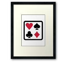 Poker colors Framed Print