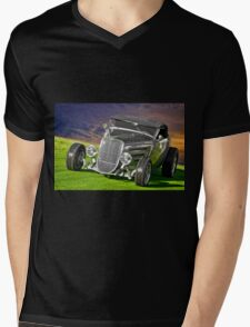 1934 Ford 'Gun Metal' Roadster Mens V-Neck T-Shirt