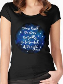 I have loved the stars too fondly Women's Fitted Scoop T-Shirt