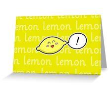 Happy Lemon - two lof bees Greeting Card