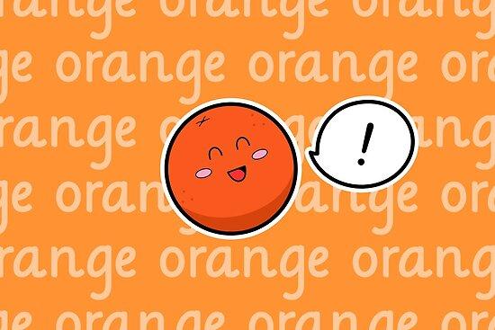 Happy Orange - two lof bees by Josh Bush