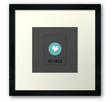 I Love Hollywood Framed Print