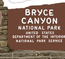 Bryce Canyon National Park Sign, Utah, USA Sticker