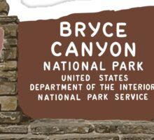 Bryce Canyon National Park Sign, Utah, USA Sticker