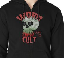 Worm Cult - Cthulhu Skull  Zipped Hoodie