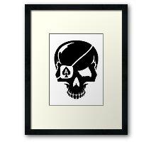 Poker skull ace Framed Print