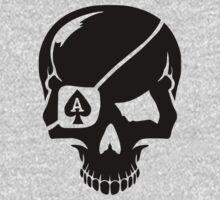 Poker skull ace One Piece - Long Sleeve
