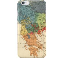 Vintage Map of The Balkans (1918) iPhone Case/Skin