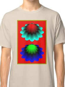 """""""WHIMSICAL 3D SHELLS"""" Abstract Psychedelic Print Classic T-Shirt"""