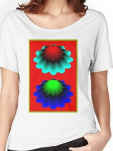"""""""WHIMSICAL 3D SHELLS"""" Abstract Psychedelic Print Women's Relaxed Fit T-Shirt"""