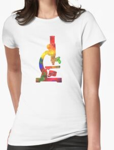 Rainbow Microscope Womens Fitted T-Shirt