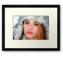 Beautiful smiling woman Framed Print