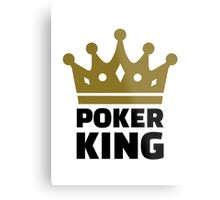 Poker king crown Metal Print