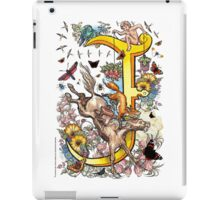 "The Illustrated Alphabet Capital  J  ""Getting personal"" iPad Case/Skin"