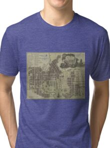 Vintage Map of Baltimore Maryland (1805) Tri-blend T-Shirt