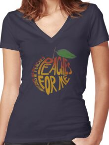 Millions of Peaches. Women's Fitted V-Neck T-Shirt