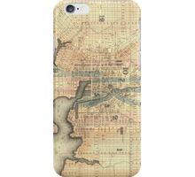 Vintage Map of Baltimore Maryland (1822) iPhone Case/Skin