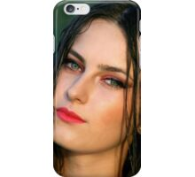 Young woman girl portrait iPhone Case/Skin