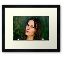 Young woman girl portrait Framed Print