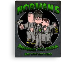 Norman's Paranormal pest control. Canvas Print