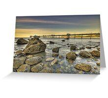 Sunset Pier. Greeting Card