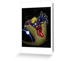 Captain Marvel Greeting Card
